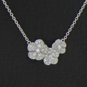 Collier or blanc et diamants