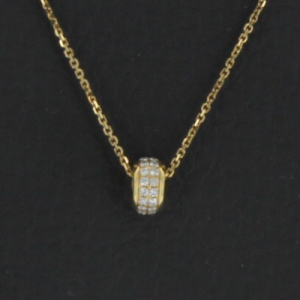 Collier or jaune et diamants - 0.35 carat
