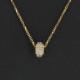 Collier or jaune et diamants - 0.35 carat