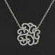 Collier Arabesque or blanc et diamants