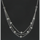 Collier or blanc et diamants - 1 carat