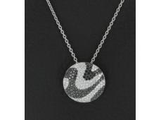 Collier diamants blanc et noirs - 1.69 carat