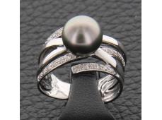 Bague perle de Tahiti et diamants