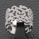Bague Arabesque or blanc et diamants