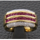 Bague or, rubis et diamants