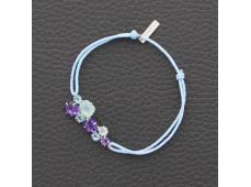 Bracelet cordon Agathe, Améthyste et Topaze
