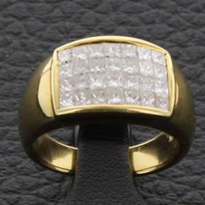Bague or jaune et diamants 1.6 carat