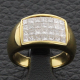 Bague or jaune et diamants 1.6 carat