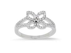 """Bague """"Fleur"""" or et Diamants"""