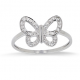 "Bague ""Papillon"" or blanc et Diamants"