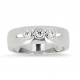 Bague 3 diamants en or blanc