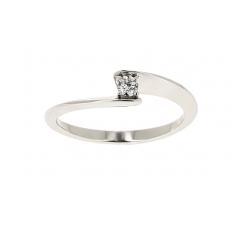 Solitaire - Diamants, or blanc