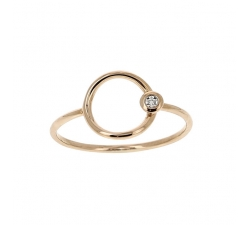 Bague - Diamants, or rose