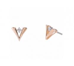 """Boucles d'oreilles """"Graphiques"""" en or blanc, or rose et diamants"""