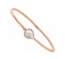 Bracelet en or rose, diamant, nacre rose