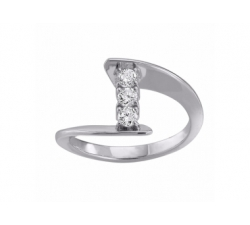 "Bague ""Envol Trilogy"" en or blanc et diamants"