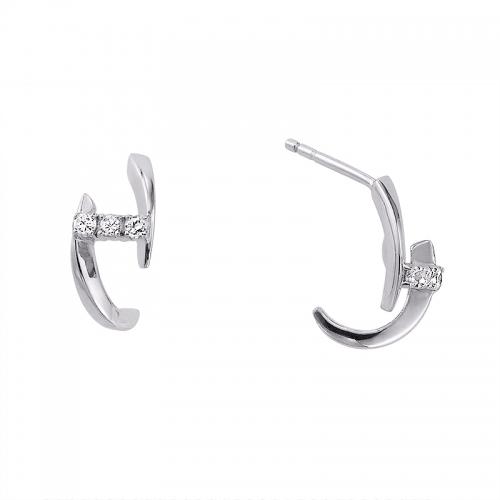 """Boucles d'oreilles """"Envol"""" en or blanc et diamants"""