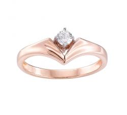 """Bague """"Graphiques"""" en or blanc, or rose et diamants"""