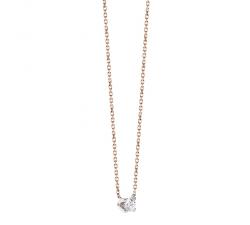 Collier - Diamants or blanc et rose