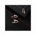 Collier Trilogy «Envol Dancing Stone» - Diamants, motif or rose, chaîne or blanc