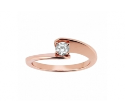 Solitaire «Envol» - Diamant, or rose