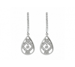 Boucles d'oreilles – Diamants, or blanc