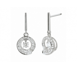Boucles d'oreilles «Envol dancing stone» - Diamants, or blanc