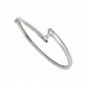 Bracelet jonc Trilogy «Envol» - Diamants, or blanc