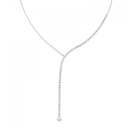 Collier - Diamants, or blanc