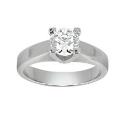 Solitaire - Diamant, 1,00 carat, or rose, or blanc - à partir de