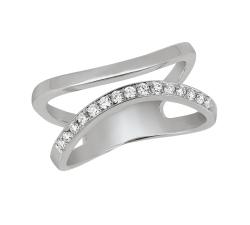 Bague - Diamants, or blanc