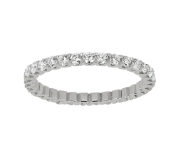 Alliance tour complet  - Diamants, 1,08 carat, or blanc