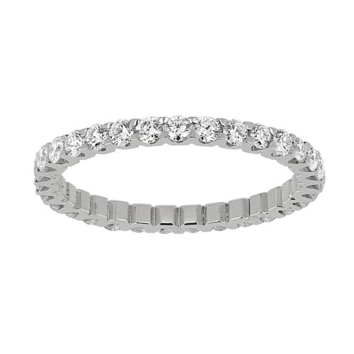 Alliance tour complet  - Diamants, 1,08 carat, or blanc