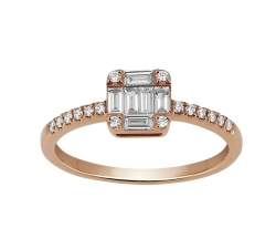 Bague «Bagatelle» - Diamants, or rose