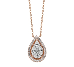 Collier - Diamants, or rose