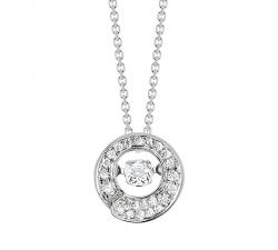 Collier «Envol dancing stone» - Diamants, or blanc
