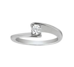 Bague «Envol»- Diamant,  or blanc
