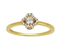 Bague - Diamants, or jaune