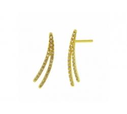 Boucles d'oreilles en or blanc et diamants