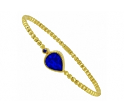 Bracelet flex en or rose