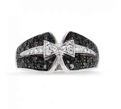 "Bague ""Smoking"" or blanc et Diamants"